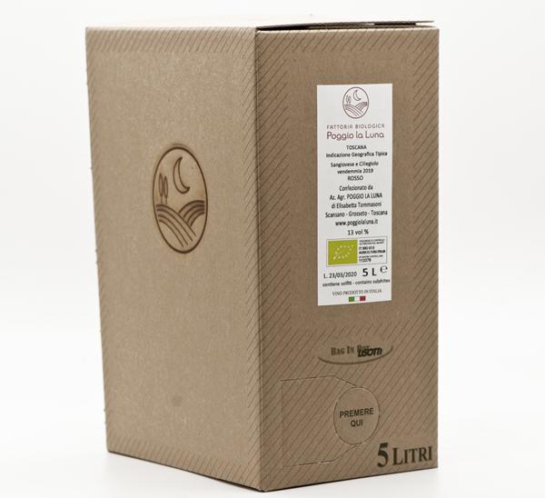 Bag in Box Vino Biologico Sangiovese Ciliegiolo
