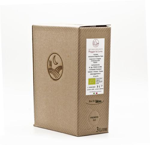 Bag in Box Vino Rosso Biologico Sangiovese e Ciliegiolo 3litri